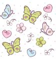 butterfly cartoons vector image vector image