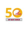 50 Pro Football Championship SF Bay Area vector image