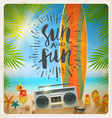 Sun and fun vector image vector image