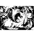 black and white marbled abstract background vector image