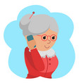 elderly woman use phone vector image