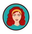 Isolated retro woman design vector image