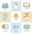 Online professional education vector image