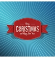 Realistic Christmas and New Year red Label vector image