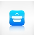 Shopping basket icon Application button vector image