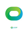 twisted loop oval letter o logo nature logo vector image