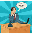 Working Man Speaking on the Phone at Office vector image