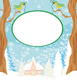 Christmas Winter Birds Graphic Design vector image