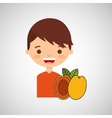 boy smiling cartoon icon design vector image