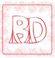 BD monogram vector image vector image