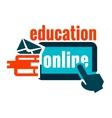 education logo concept vector image vector image
