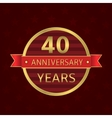 40 years anniversary vector image