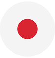 Japan flag button vector image