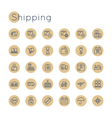 Round Shipping Icons vector image vector image