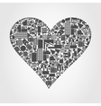 House heart vector image vector image