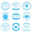 Set of dental clinic logo templates Dental labels vector image