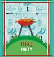barbecue party menu card invitation vector image