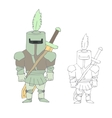 Cartoon knight vector image