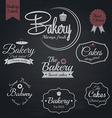 Chalkboard bakery labels vector image