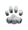 doodle halftone with dog paw print vector image