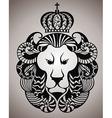 Lion face logo emblem vector image
