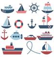 sea transport set vector image