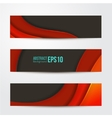 set of abstract red banners three background vector image