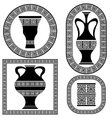 Set of Greek Frames vector image