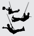 swing people silhouette vector image