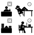 work process icons vector image
