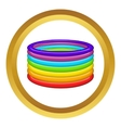 Rings in colours of LGBT icon vector image