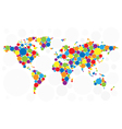 World map of colorful bubbles vector image vector image