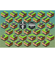 Isometric Roads on Green Terrain vector image