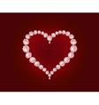 luxury diamond heart vector image vector image