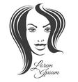 Beautiful Woman Face Emblem vector image vector image