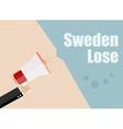 Sweden lose Flat design business vector image