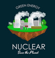 alternative energy power industry nuclear power vector image