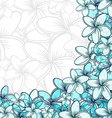 Background of transparent blend flowers design vector image