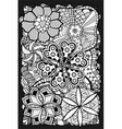 Black and White Floral Patterned Background vector image