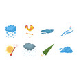 different weather icons in set collection for vector image