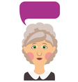 Elderly woman and bubble vector image