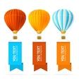 Hot Air Balloon Banner vector image