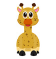 isolated cute giraffe vector image