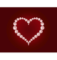 luxury diamond heart vector image