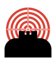 optical sight vector image