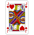 Poker playing card Jack heart vector image