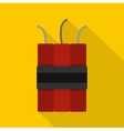 Dynamite explosives icon flat style vector image
