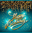 concept party on blue dark background top view vector image