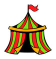 circus tent icon icon cartoon vector image