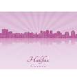 Halifax skyline in purple radiant orchid vector image vector image
